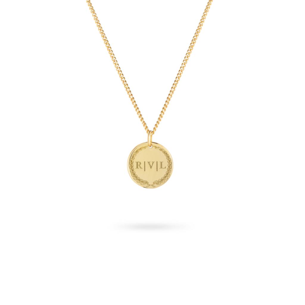 Vedder & Vedder Initial Coin Necklace