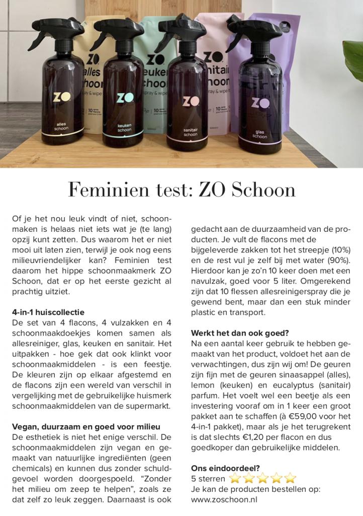 Samenwerking Feminien x ZoSchoon